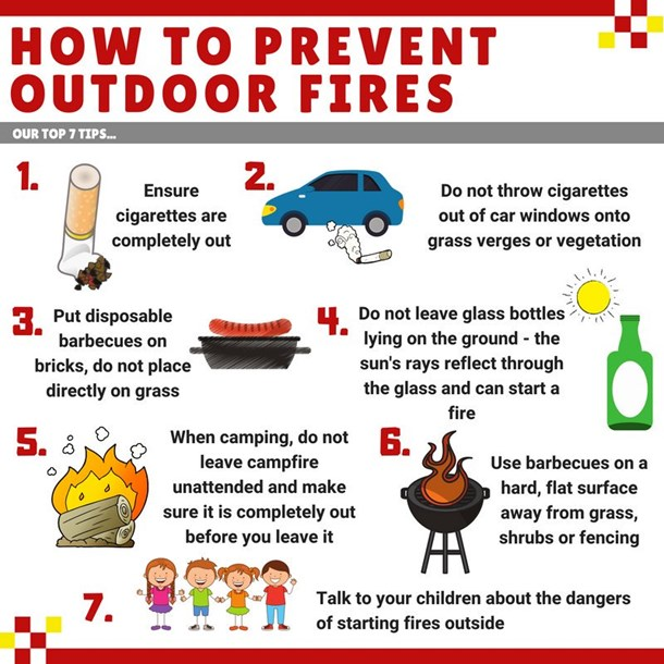 Outdoor fire safety Infographic