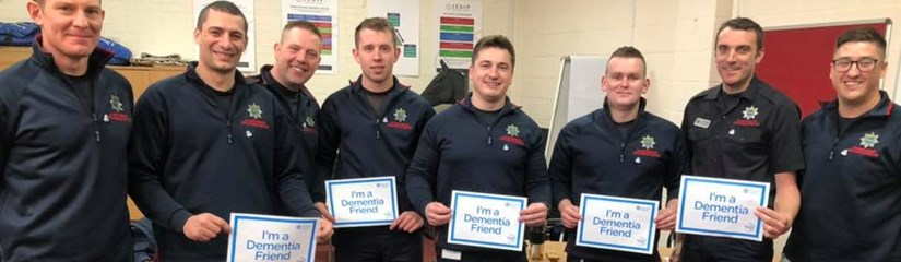 Firefighters trained as Dementia Friends